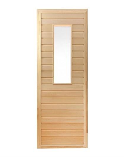 Дверь для Бани со стеклом - 1800х700 - фото 4500