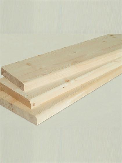 Ступень деревянная 1300x250x40 - фото 5147