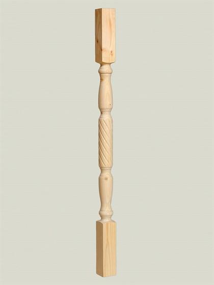 Балясина деревянная Витая - 60x60 Сорт AB - фото 5276