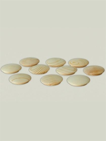 Заглушка деревянная 25 мм (упак - 10 шт) - фото 6842