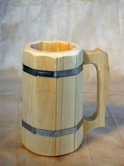 Кружка деревянная 1 л - фото 6946