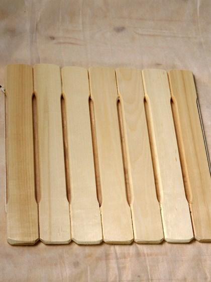 Коврик деревянный 40x40 - фото 7287