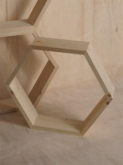 Полка деревянная 6 углов - фото 7701