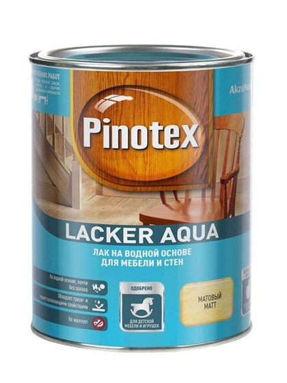 Лак Pinotex Lacker Aqua гл 10 на водной основе 1л - фото 7770