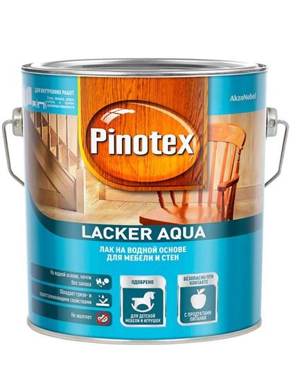 Лак Pinotex Lacker Aqua гл 10 на водной основе 2,7л - фото 7772