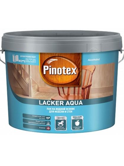 Лак Pinotex Lacker Aqua гл 10 на водной основе 9л - фото 7774