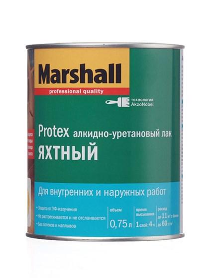 Лак Marshall PROTEX Яхтный полуматовый 0,75л - фото 7799