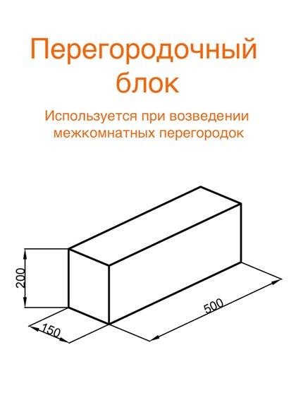 Перегородочный блок (Арболит) - фото 8258