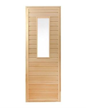 Дверь для Бани со стеклом - 1800х700