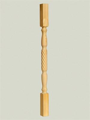 Балясина из дерева Витая - 60x60 Класс A