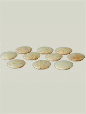 Заглушка деревянная 25 мм (упак - 10 шт)