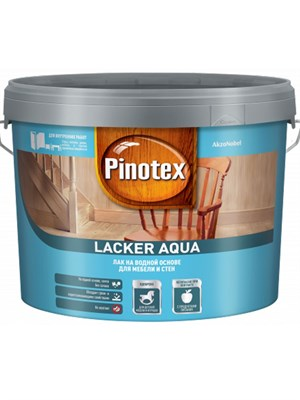 Лак Pinotex Lacker Aqua гл 10 на водной основе 9л