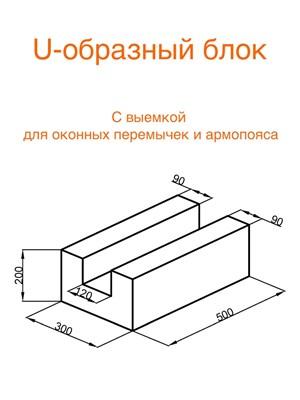 U-образный блок (Арболит)
